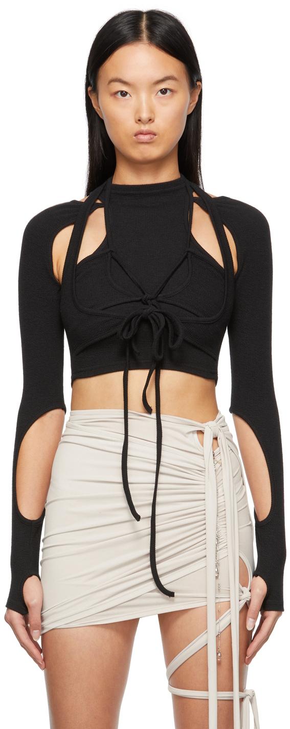 SSENSE Exclusive Black Jersey Long Sleeve T-Shirt