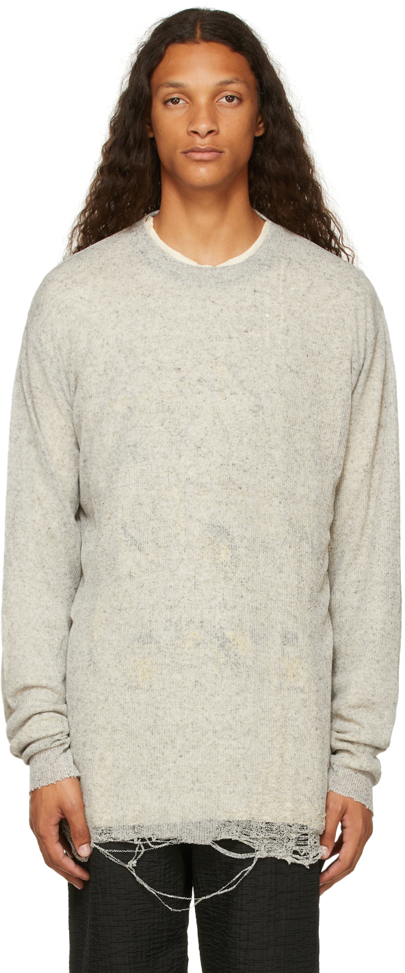 Grey Layered Long Sleeve T-Shirt