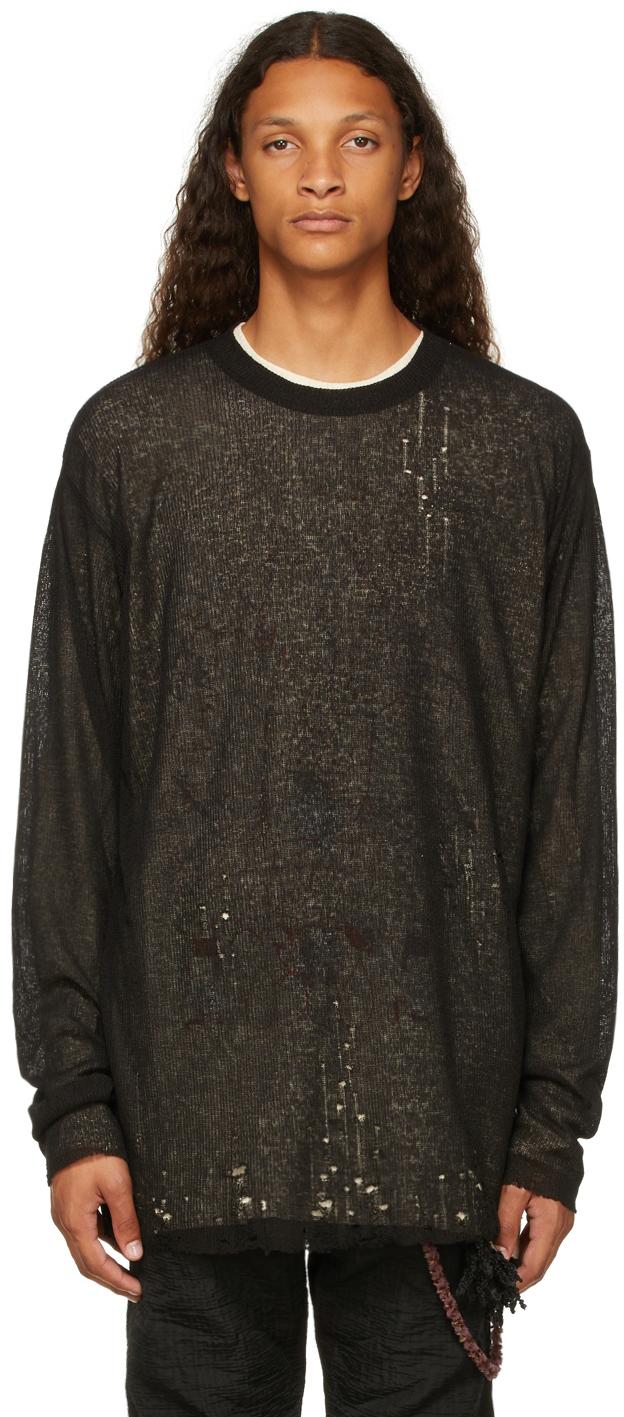 Black Layered Long Sleeve T-Shirt