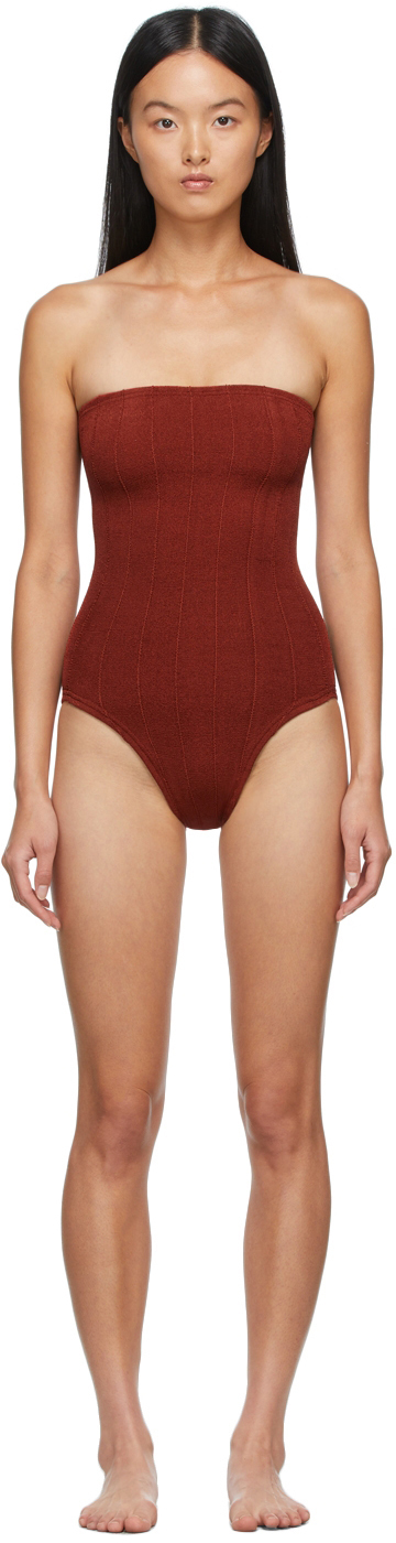 Brown Audrey Nile One-Piece Swimsuit