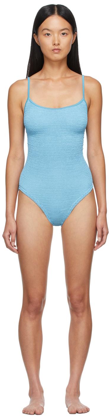 Blue Pamela One-Piece Swimsuit