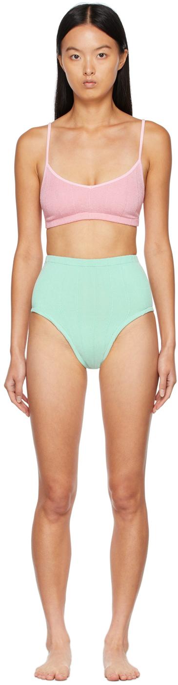 Pink & Green Duo Color Nile Bikini
