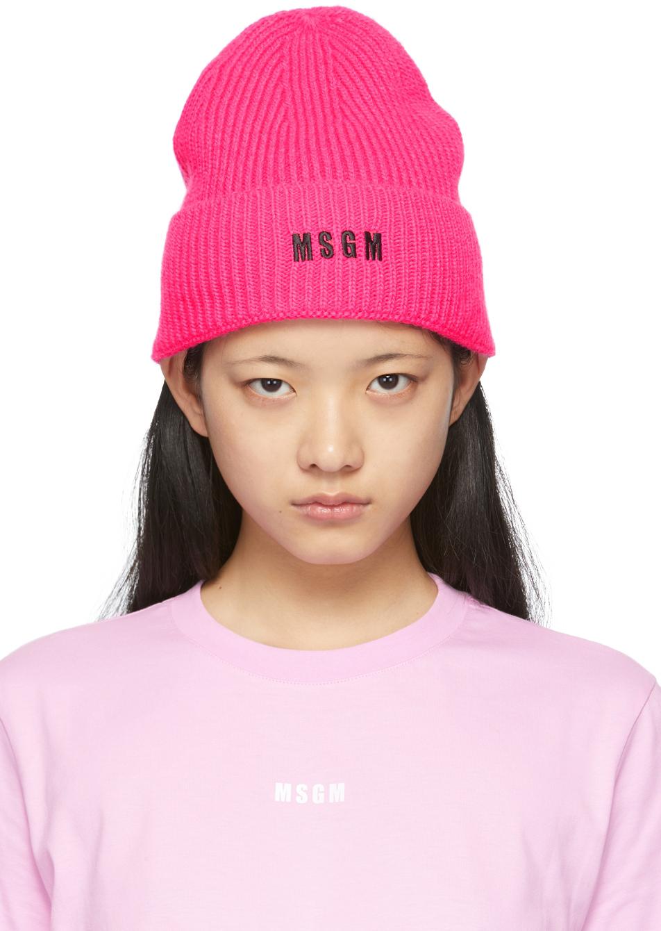 Pink Logo Beanie