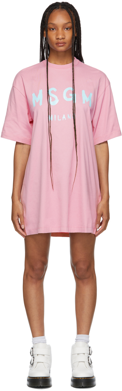 Pink Brush Stroke Logo T-Shirt