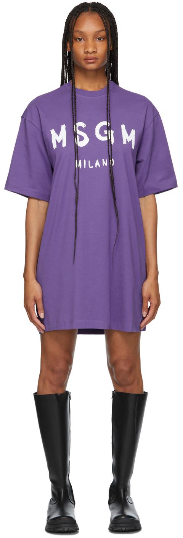 Purple Brush Stroke Logo T-Shirt