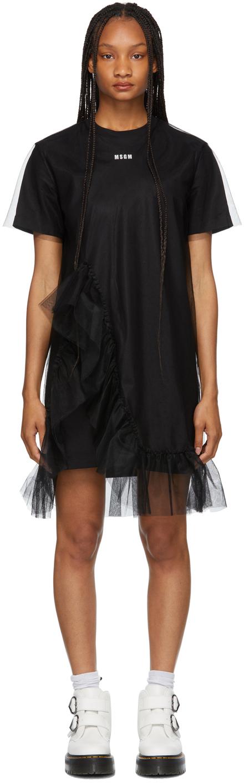 Black Tulle T-Shirt Dress