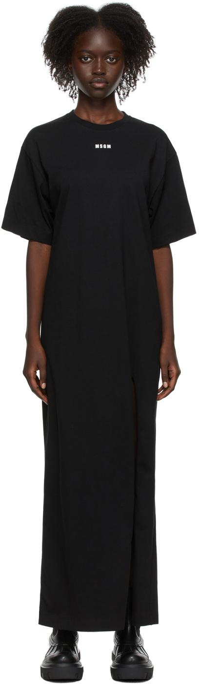 SSENSE Exclusive Black Mini Logo Dress