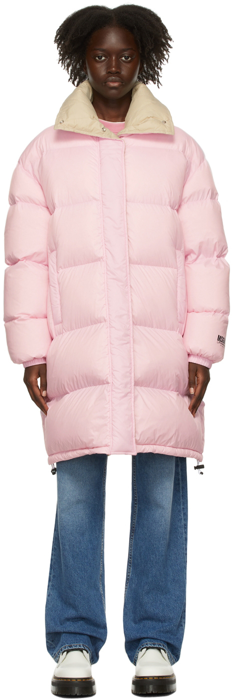 Pink Down Puffer Coat