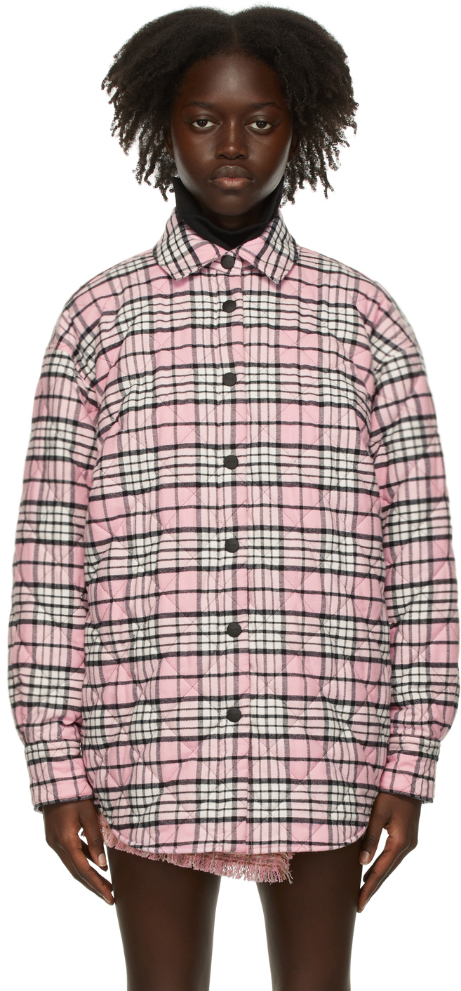 Pink Flannel Quilted Jacket
