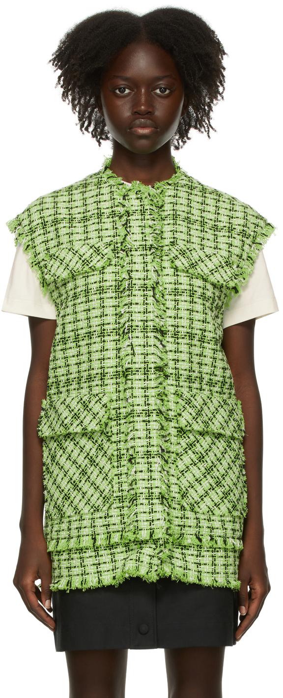 Green Tweed Vest