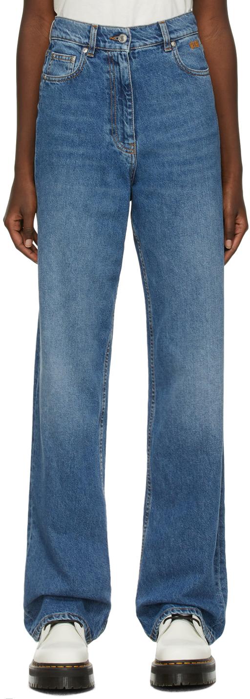 Blue Oversized Boy Jeans