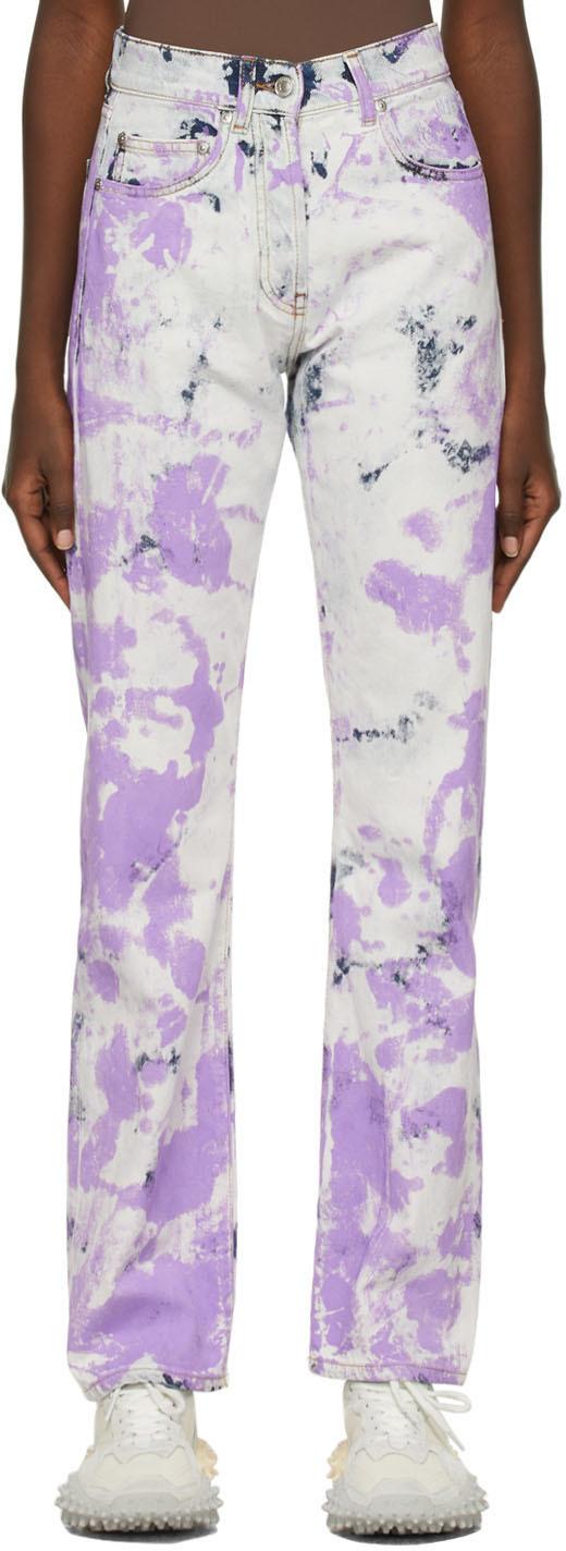 Blue & Purple Tie-Dye Effect Jeans
