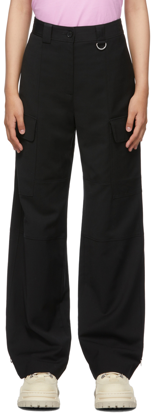 Black Loose-Fit Cargo Trousers