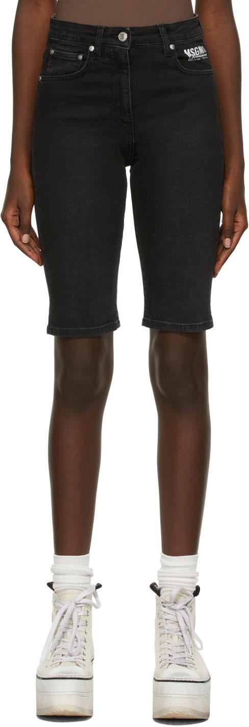 Black Bermuda Denim Shorts