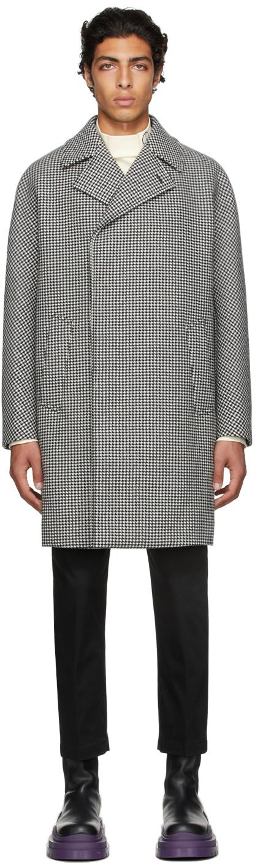 Black & White Houndstooth Coat