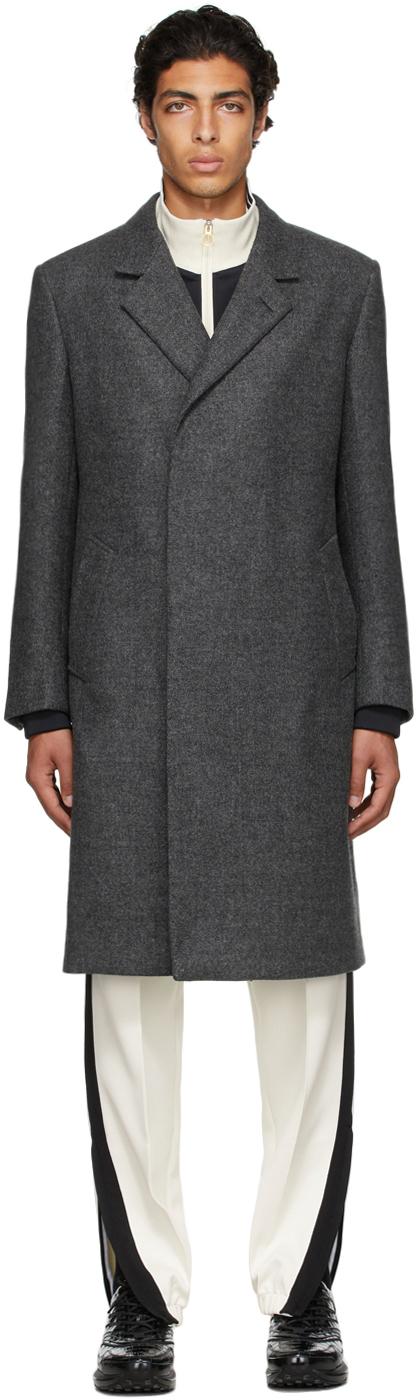 Grey Half Wrap Coat