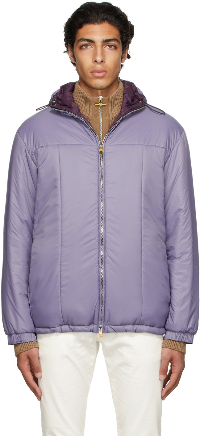 Reversible Purple Hooded Jacket