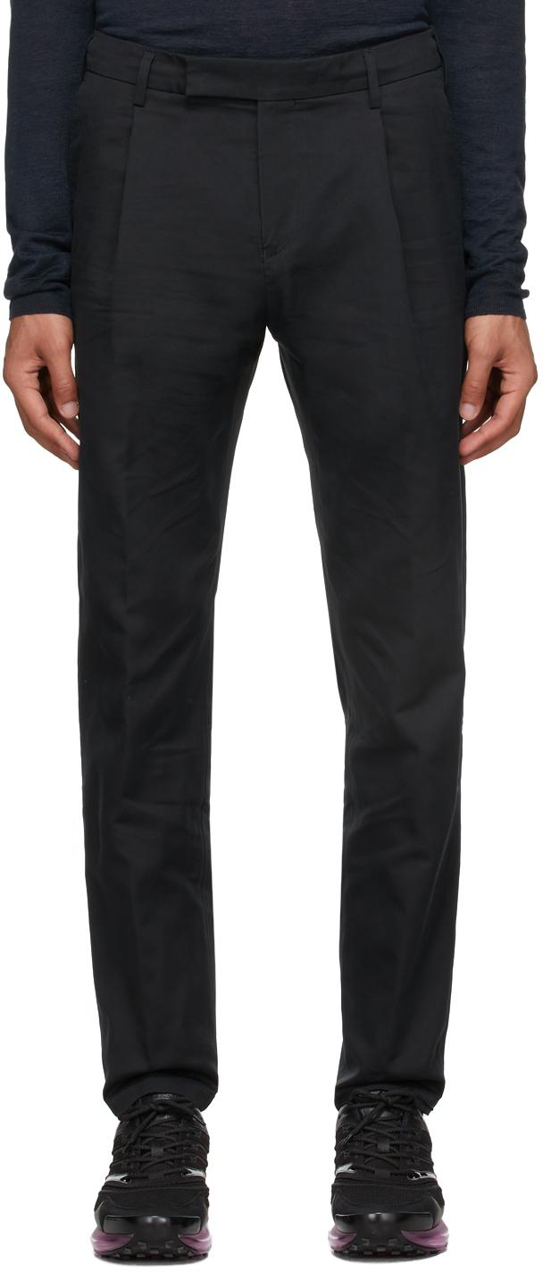 Black Single Pleat Trousers
