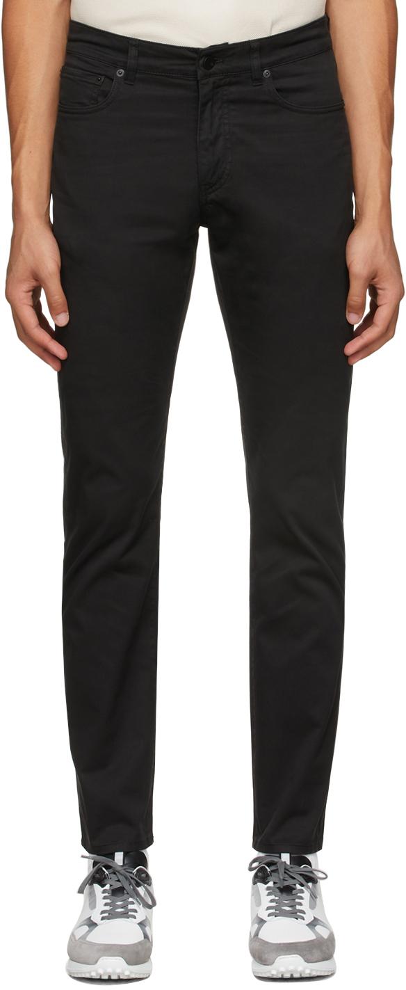 Black Cotton Twill Trousers