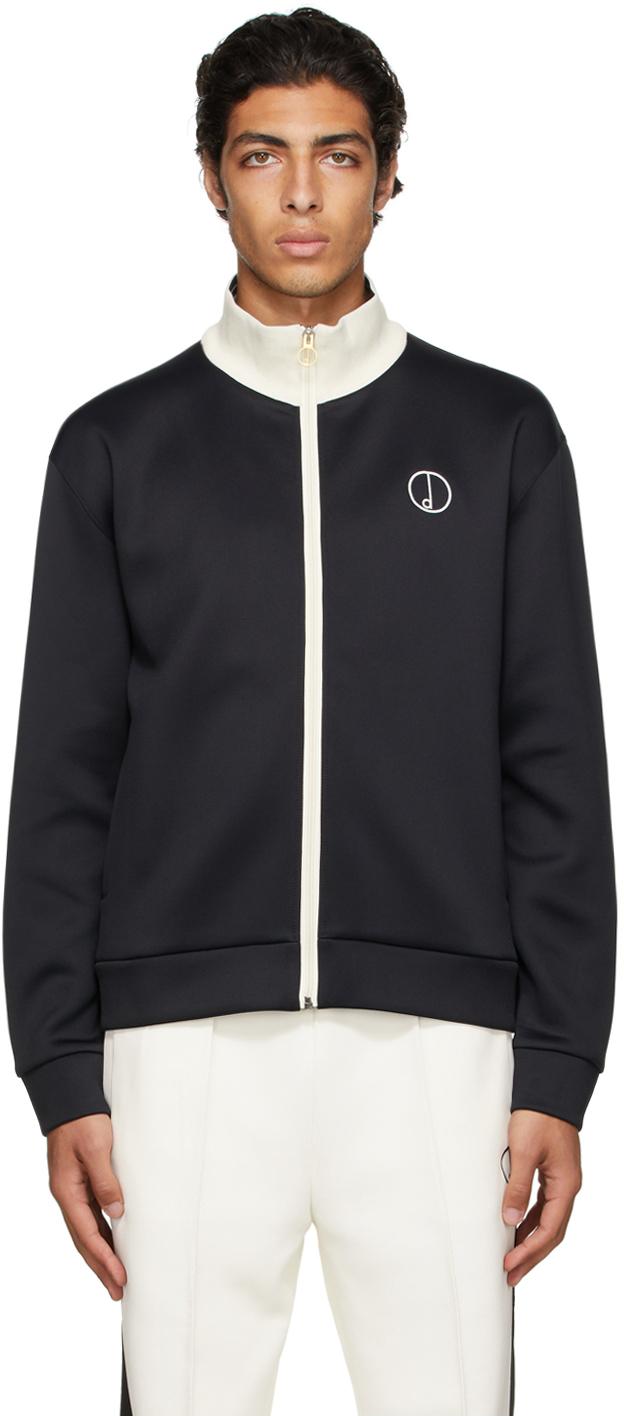 Black 'D' Track Zip-Up Jacket