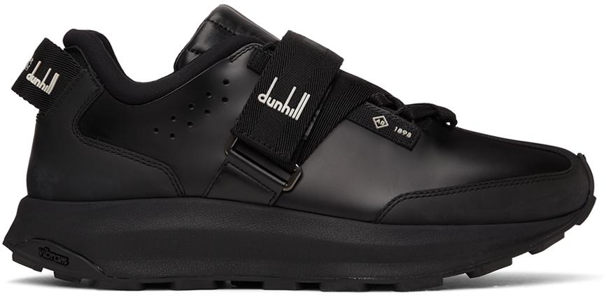 Black Aerial Strap Runner Sneakers