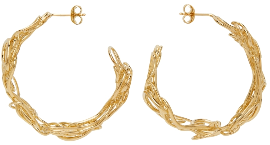 Gold Vermeil Twist Earrings