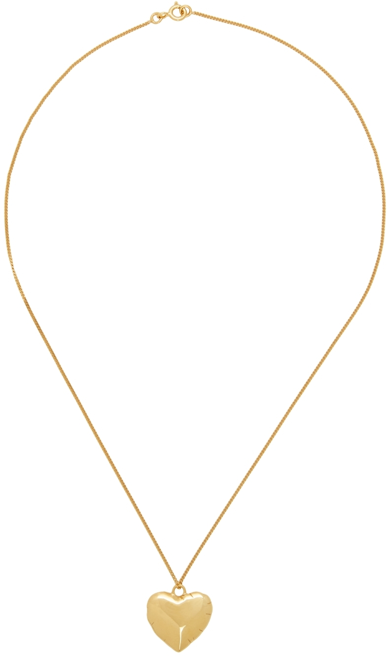 Gold Helium Heart Necklace
