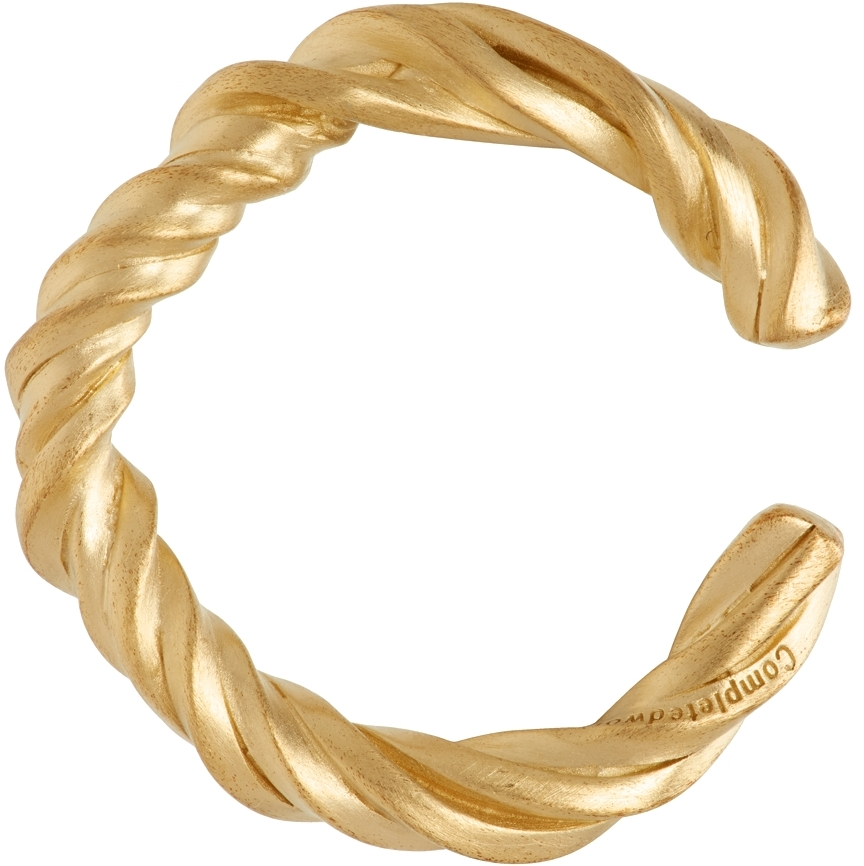 Gold Twist Deep State Earrings