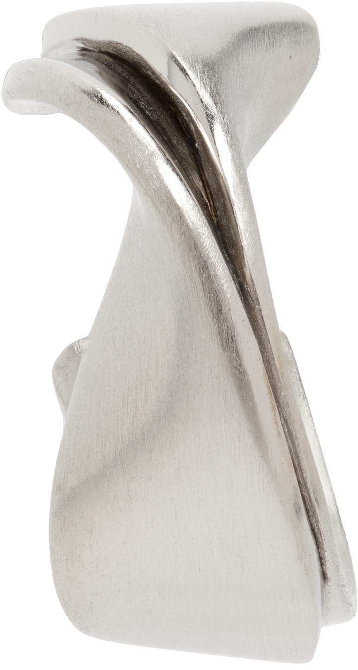 Silver Plume Single Earring