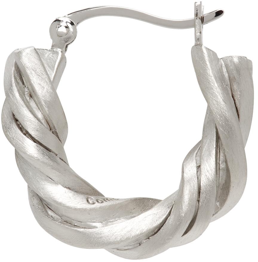 Silver Deep State Single Earring