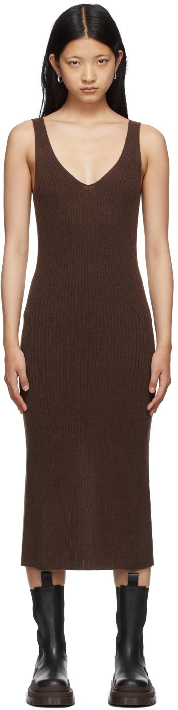 Brown Ina Rib Dress