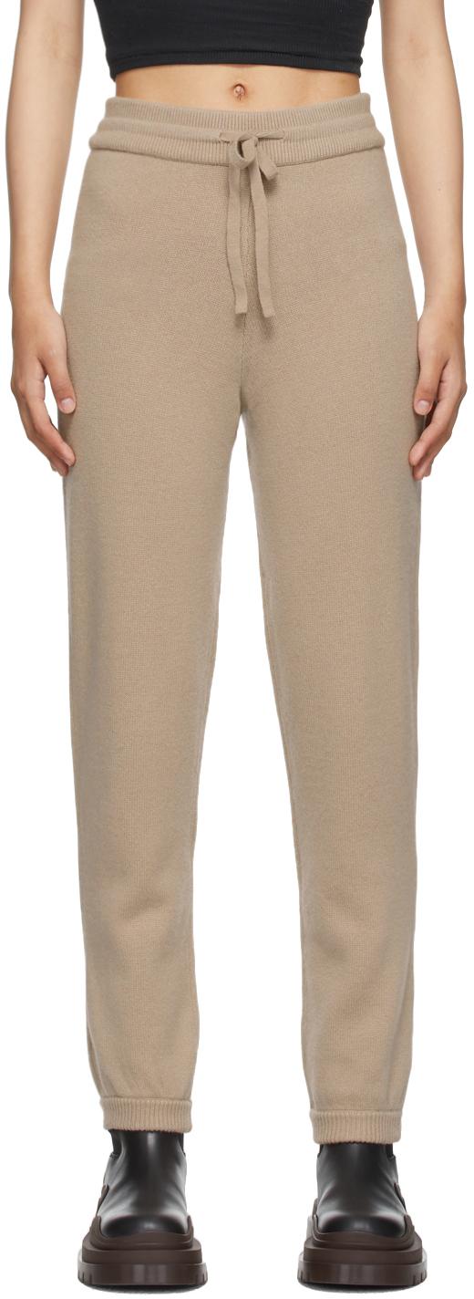 Beige Eloise Knit Lounge Pants