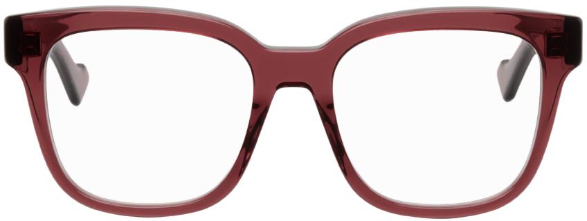 Burgundy Square GG Glasses