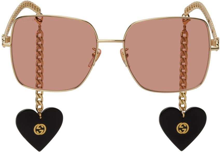 Gold Chain Square Sunglasses