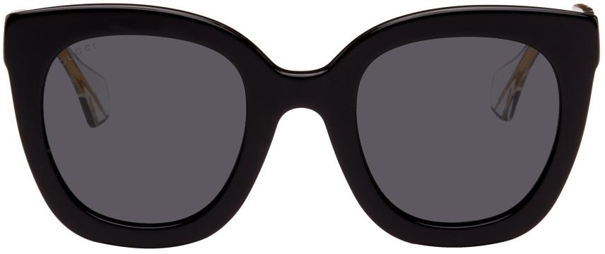 Black Round Logo Sunglasses