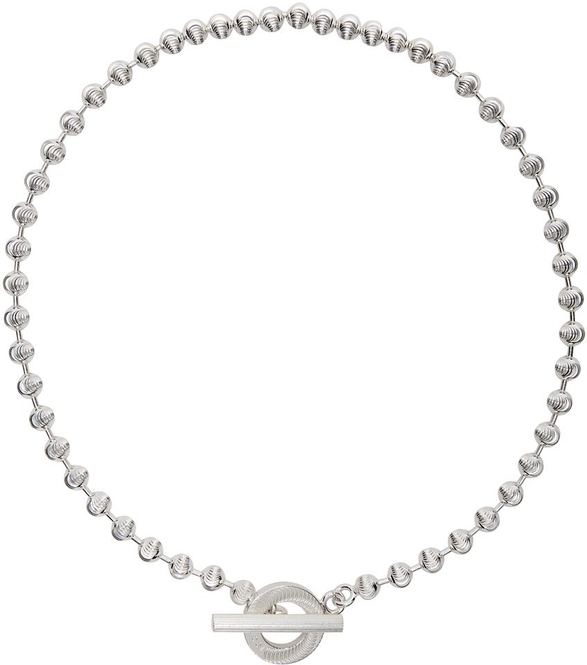 Silver Ball Chain Choker