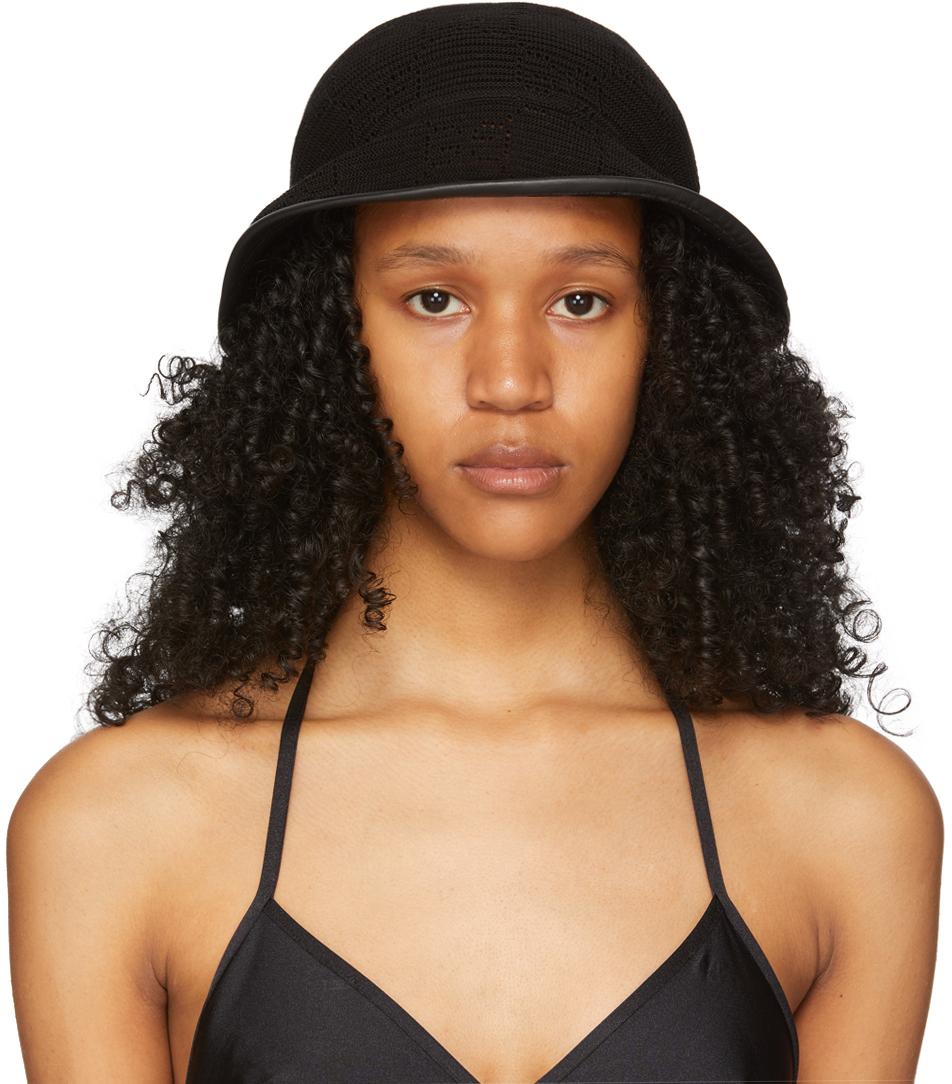 Gucci Black Crochet Gg Hat In 1060 Black