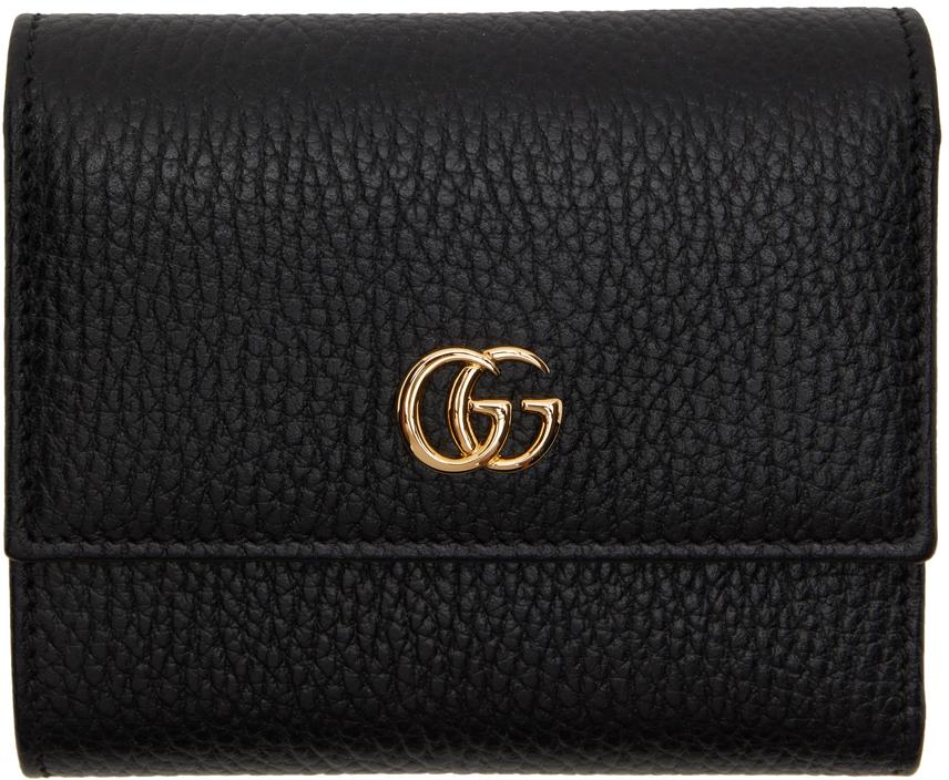 Gucci 黑色 GG Marmont 钱包