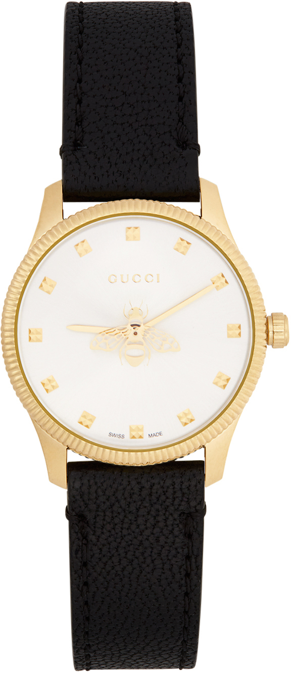 Black & Gold G-Timeless Bee Watch