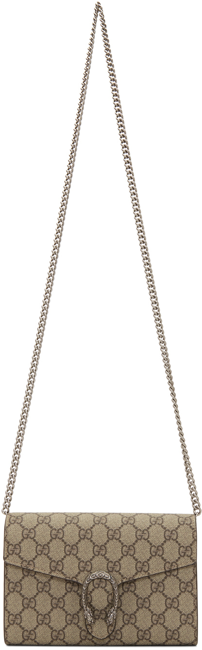 Beige GG Dionysus Wallet Chain Bag