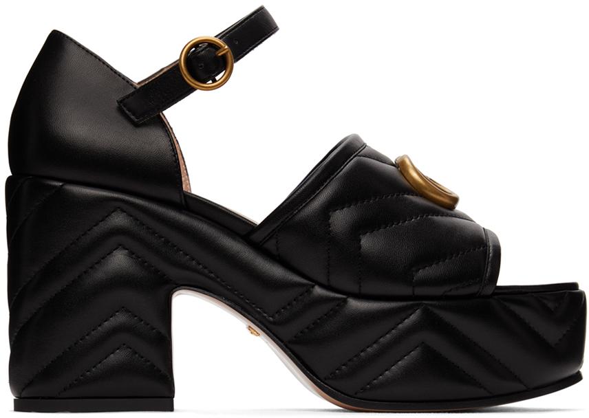 Gucci 黑色 Metelassé 凉鞋