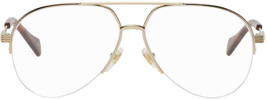 Gold Shiny Endura Aviator Glasses
