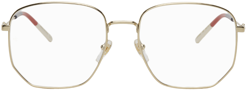 Gold Rounded Square Glasses