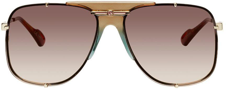 Gold & Brown GG0739 Sunglasses