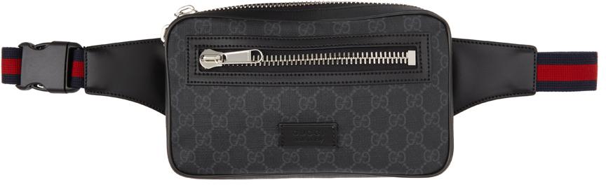 Black 'GG Supreme' Belt Bag