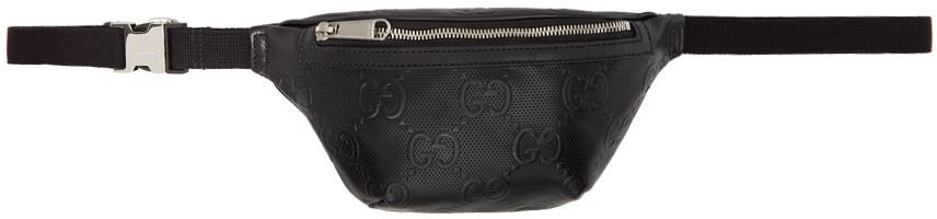 Black GG Embossed Belt Bag