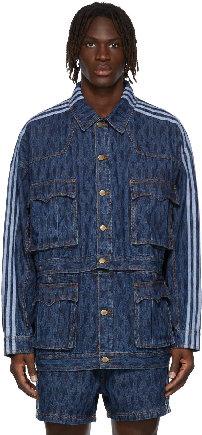 Blue Denim Monogram Track Jacket