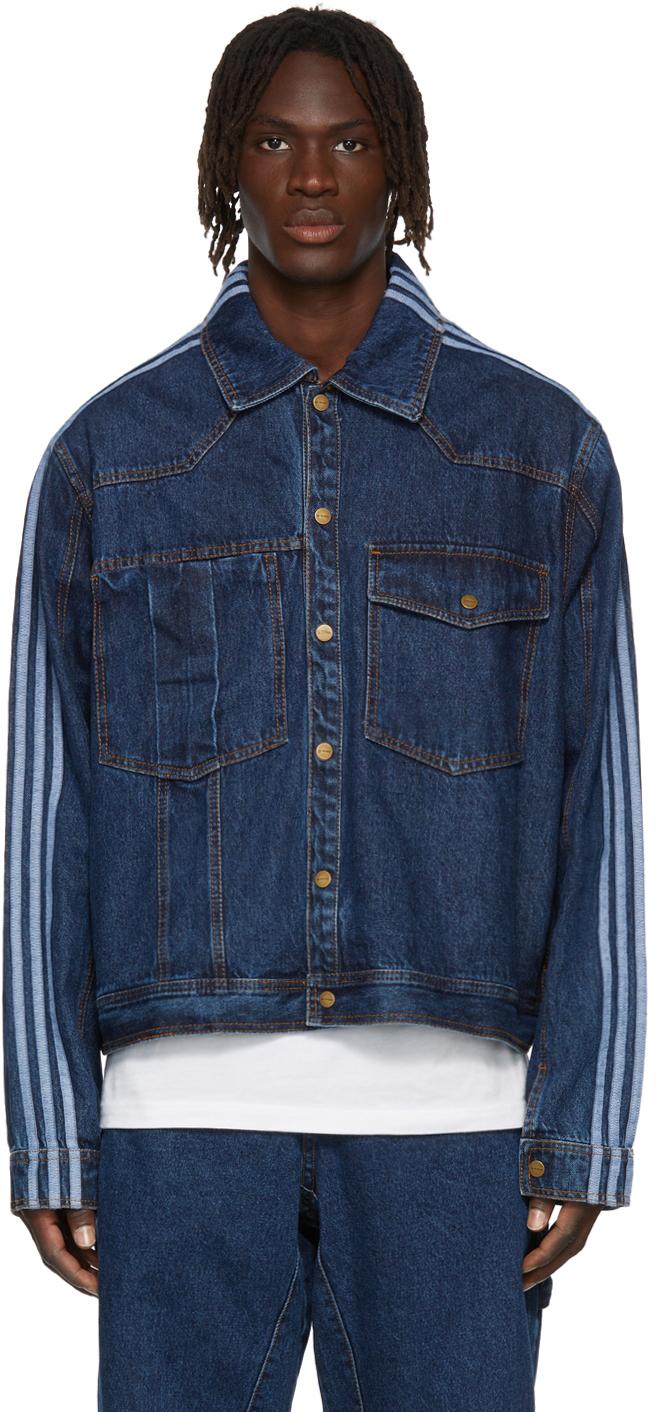 Blue Denim Monogram Jacket