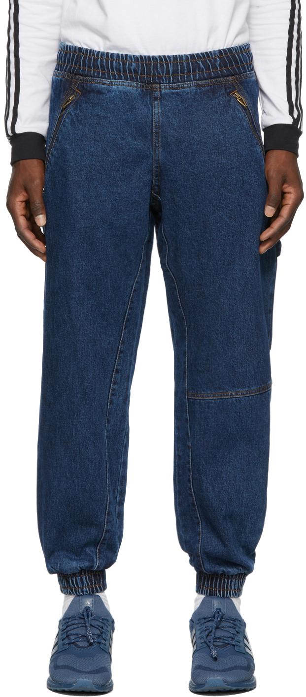 Blue Denim Monogram Lounge Pants