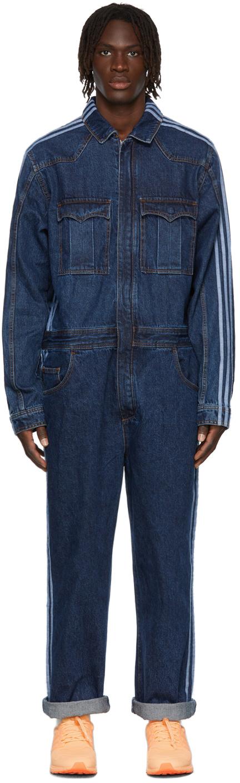 Blue Denim Snap Boiler Jumpsuit